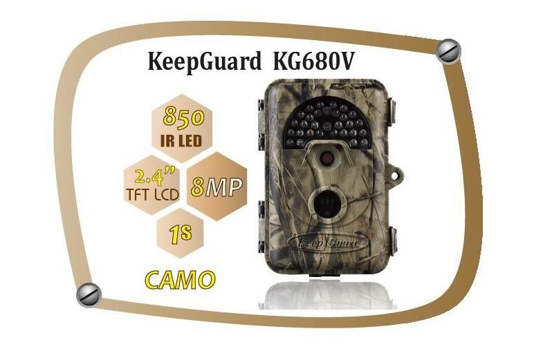 Waterproof IP54 8MP Trial Camera Wildlife Motion Camera KeepGuard 680NV